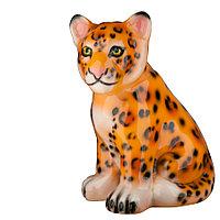Садовая фигура Леопард, декор, фигурка, скульптура для сада, керамическая, ландшафтная, 30*20*23 см, б