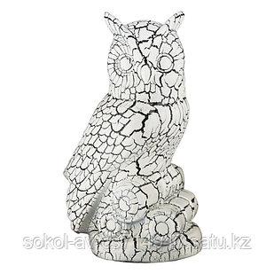 Садовая фигура Сова, декор, фигурка, скульптура для сада, керамическая, ландшафтная, 27*17*18 см, 002