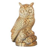 Садовая фигура Сова, декор, фигурка, скульптура для сада, керамическая, ландшафтная, 27*17*18 см, 003