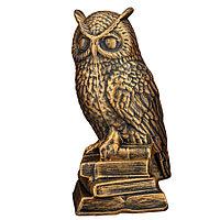 Садовая фигура Сова, декор, фигурка, скульптура для сада, керамическая, ландшафтная, 32*13*15 см, 001