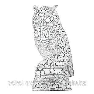 Садовая фигура Сова, декор, фигурка, скульптура для сада, керамическая, ландшафтная, 32*13*15 см, 002
