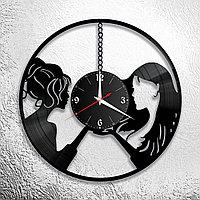 Настенные часы из пластинки интерьерные в офис, кухню, прихожую, гараж, комнату, 1100