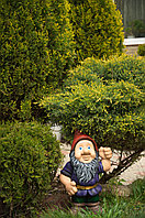 Садовая фигура Гном, декор, фигурка, скульптура для сада, керамическая, ландшафтная, 40*30*19 см, 01