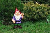 Садовая фигура Гном, декор, фигурка, скульптура для сада, керамическая, ландшафтная, 40*30*19 см, 02