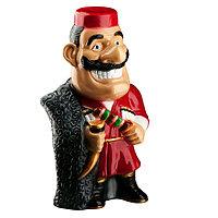 Садовая фигура Человек кавказ, декор, фигурка, скульптура для сада, керамическая, ландшафтная, 40*21*18 см, 01