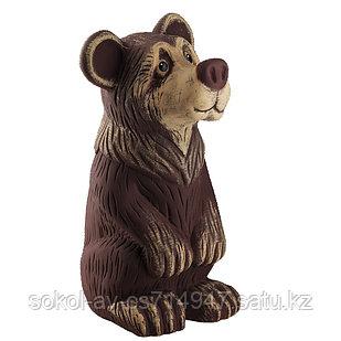 Садовая фигура Медведь, декор, фигурка, скульптура для сада, керамическая, ландшафтная, 39*21*20 см, 01