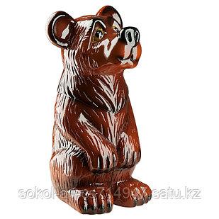 Садовая фигура Медведь, декор, фигурка, скульптура для сада, керамическая, ландшафтная, 39*21*20 см, 02