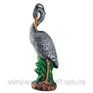 Садовая фигура Цапля, декор, фигурка, скульптура для сада, керамическая, ландшафтная, 56 см, 02