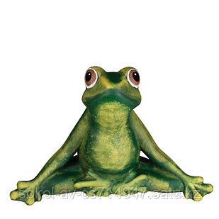 Садовая фигура Лягушка (жаба), декор, фигурка, скульптура для сада, керамическая, ландшафтная, 40*27*25 см, 02
