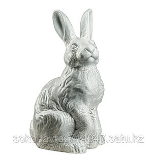 Садовая фигура Заяц / Кролик, декор, фигурка, скульптура для сада, керамическая, ландшафтная, 40*23*21 см, 07