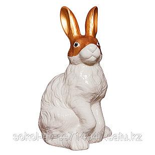 Садовая фигура Заяц / Кролик, декор, фигурка, скульптура для сада, керамическая, ландшафтная, 40*23*21 см, 08
