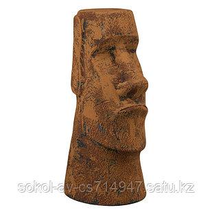 Садовая фигура Истукан Моаи, декор, фигурка, скульптура для сада, керамическая, ландшафтная, 41*18*20 см, 03