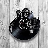 Настенные часы из пластинки Гарри Поттер Harry Potter, подарок фанатам, любителям, 1277