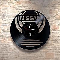 Настенные часы из пластинки, Nissan Ниссан, подарок фантам, любителям, владельцам, 0278