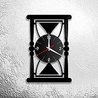 Настенные часы из пластинки лофт, винтаж, ретро, Песочные часы, в офис, кухню, комнату, прихожую, 1173