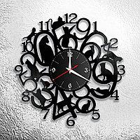 Настенные часы из пластинки лофт, винтаж, ретро, в офис, кухню, комнату, прихожую, 1177