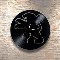 Настенные часы из пластинки, Peugeot Пежо, подарок фантам, любителям, владельцам, 0289