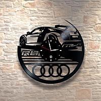 Настенные часы из пластинки, Audi Ауди, подарок фантам, любителям, владельцам, 0179