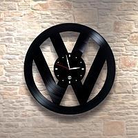 Настенные часы из пластинки, volkswagen фольксваген, подарок фантам, любителям, владельцам, 0334