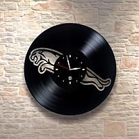 Настенные часы из пластинки, Jaguar Ягуар, подарок фантам, любителям, владельцам, 0241