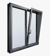 Распашные окна из алюминия