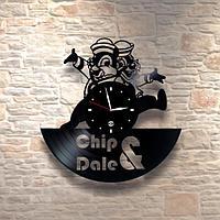 Настенные часы из пластинки, Chip & Dale Чип и Дейл, подарок детям в детскую комнату, 0208