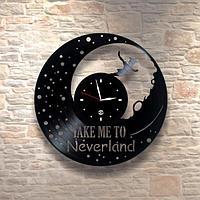 Настенные часы из пластинки Take Me To Neverland, подарок детям в детскую комнату, 0025