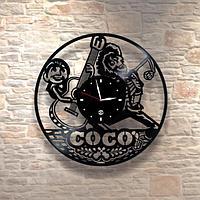 Настенные часы из пластинки, Coco Тайна Коко, подарок детям в детскую комнату, 0209