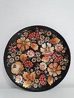 Декоративная тарелка настенная Петриковская роспись, декор для кухни, дома, интерьера, спальни, 25 см, 007