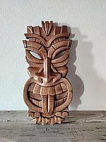 Панно маска настенная резная из дерева, декоративная, 30 х 15 х 3 см