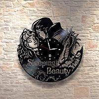 Настенные часы пластинки, Sleeping Beauty Спящая красавица, детям в детскую комнату 0309