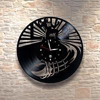 Настенные часы из пластинки Американский футбол и регби , подарок регбисту, тренеру, 0032