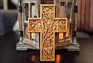 Панно крест резной настенный из дерева Лоза, 11,8 x 16,9 см, фото 5