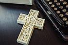 Панно крест резной настенный из дерева Лоза, 11,8 x 16,9 см, фото 6