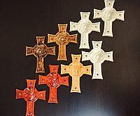 Панно крест резной настенный из дерева Терновый венок, 12.2 x 15.1 см