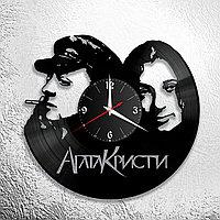 Настенные часы из пластинки, группа Агата Кристи, подарок фанатам, любителям, 0572