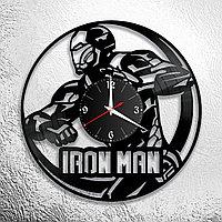 Настенные часы из пластинки iron man железный человек ,подарок фанатам, любителям, 0841