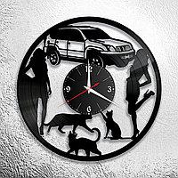 Настенные часы из пластинки интерьерные Босс, , подарок начальнику, в офис, кухню, комнату , прихожую, 1162
