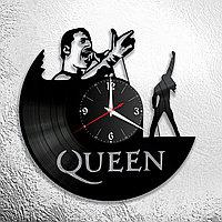 Часы из пластинки, группа Квин Фредди Меркьюри Queen Freddie Mercury, подарок фанатам, любителям, 0702