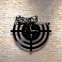 Настенные часы из пластинки Дэдпул Deadpool, подарок фанатам, любителям, 0059