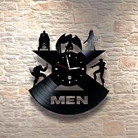Настенные часы из пластинки, X-Men Люди Икс, подарок фанатам, любителям, 0347