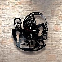 Настенные часы из пластинки, The Godfather Крёстный отец, подарок в стиле мафии фанатам, любителям, 0318