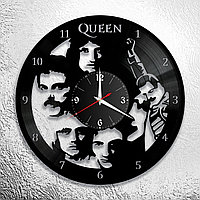 Часы из пластинки, группа Квин Фредди Меркьюри Queen Freddie Mercury, подарок фанатам, любителям, 0704