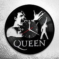 Часы из пластинки, группа Квин Фредди Меркьюри Queen Freddie Mercury, подарок фанатам, любителям, 0705
