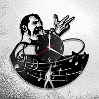 Часы из пластинки, группа Квин Фредди Меркьюри Queen Freddie Mercury, подарок фанатам, любителям, 0706