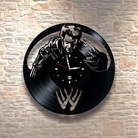 Настенные часы из пластинки, Люди икс X-Men росомаха Wolverine, подарок фанатам, 0437