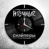 Настенные часы из пластинки, группа Ночные Снайперы Диана Арбенина, подарок фанатам, любителям, 0617