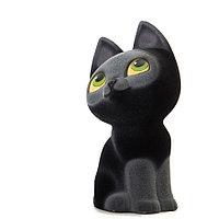 Копилка / статуэтка керамическая детская Котенок, высота 28 см, черный