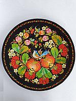 Декоративная тарелка настенная Петриковская роспись, декор для кухни, дома, интерьера, спальни, 25 см, 005
