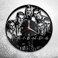 Настенные часы из пластинки сериал Друзья FRIENDS, подарок фанатам, любителям, 0881